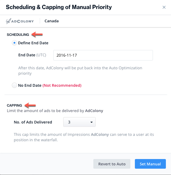 ironsource-platform-manual-priority-scheduling-capping