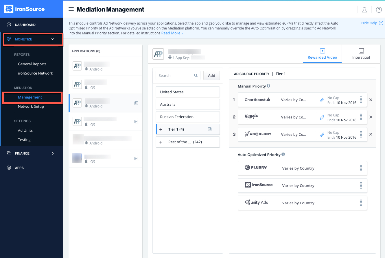 ironsource-platform-mediation-management