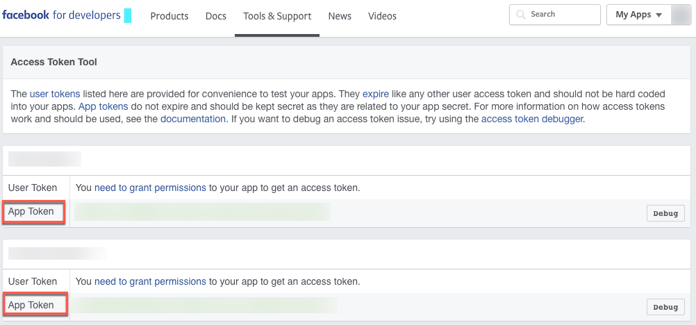 ironsource-app-token-page
