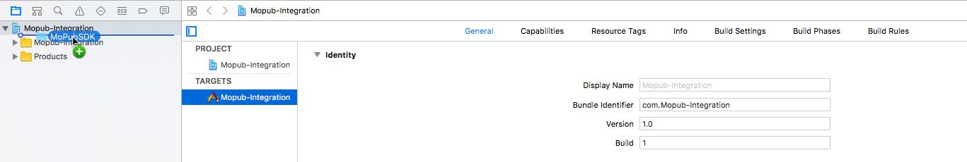 MoPub SDK Drag'n Drop Manual