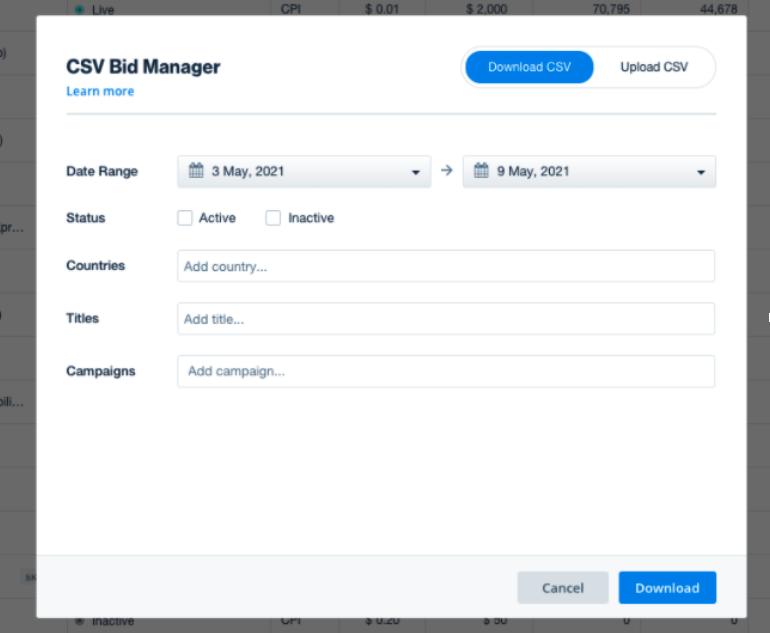 CSV Bid Manager